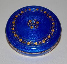 Round silver gilt and enamel box. Marius Hammer (1847-1927).