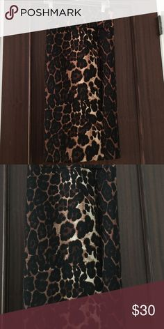 Cheetah patterned pencil skirt Brand new, never worn Skirts Pencil