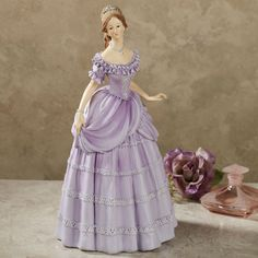 Purple Lady Figurines | ... figurine view now rosalynn lavender table lamp ivory lavender each