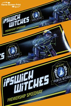 We've printed car window stickers for the Ipswich Witches, based at the Ipswich Premiership Speedway in the UK. The full colour custom printed car window stickers feature a Rider photo and the Ipswich Witches logo. Car Window Stickers, Car Stickers, Ipswich Witches, Rear Window, Custom Cars, Screen Printing, Colour, Logo, Printed