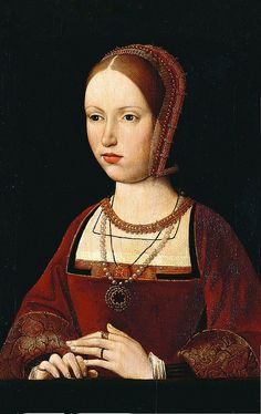 A century portrait, possibly of Margaret Tudor, Queen of Scots; Margaret was the sister of Henry VIII of England and paternal grandmother of Mary Queen of Scots. Costume Renaissance, Renaissance Portraits, Renaissance Fashion, Tudor Fashion, Renaissance Era, Renaissance Clothing, Tudor History, European History, British History