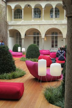 an old monastery in the center of Milan, Italy / Paola Lentis' colorful furniture