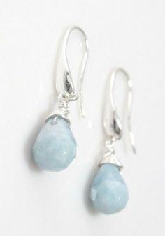Drop Aquamarine Earrings          Repined by www.movingforlove.com