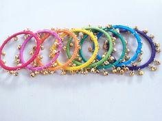Colorful bangles. My creation! Leesa Shah