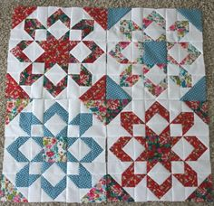 Camille Roskelley's Fireworks quilt pattern by evangelina