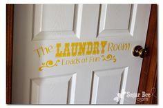 Vinyl Laundry Room label :: Sugar Bee Crafts