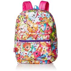 Amazon.com: Shopkins Little Girls Print Backpack, Multi, One Size:... ($19) ❤ liked on Polyvore featuring shopkins