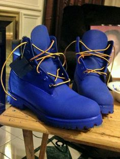 Blue Timbs, I want some white ones too