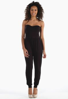 Bandeau Jumpsuit in Black - Womens Clothing Sale, Womens Fashion, Cheap Clothes Online | Miss Rebel