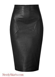 Genuine Leather Custom Made Sexy Lady Calf Length Pencil Skirt Office Lady Club Skirt Satin Pencil Skirt, Pencil Skirt Casual, High Waisted Pencil Skirt, Pencil Skirts, Pencil Dress, Fitted Skirt, Sexy Skirt, Dress Skirt, Office Skirt