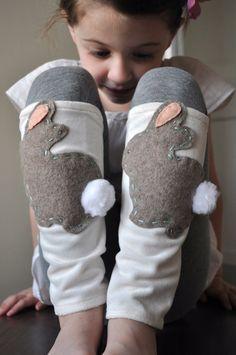 Bunny Rabbit Leg Warmer Easter Bunny by zachaliz on Etsy, $18.00