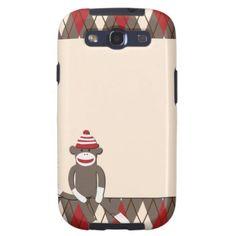 OMG Argyle Sock Monkey Samsung Galaxy S3 Case