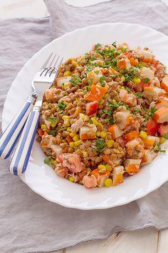Ensalada de lentejas, una gran receta para #verano #ensaladas #alimentación #salud #Luminarc