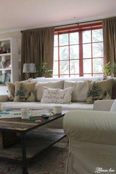 Winter Home Tour - family room and sofa