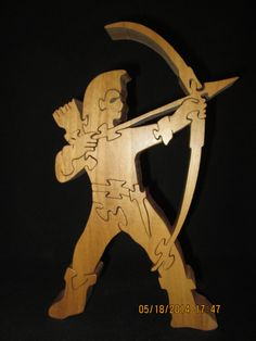 The Archer wooden puzzle by PXWoodNJoys on Etsy, $30.00
