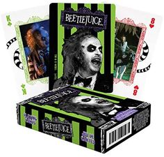 Amazon.com: AQUARIUS Beetlejuice Playing Cards - Beetlejuice Themed Deck of Cards for Your Favorite Card Games - Officially Licensed Beetlejuice Merchandise & Collectibles - Poker Size : Aquarius: Toys & Games Beetlejuice, Deck Of Cards, Aquarius, Card Games, Ace Card, Action Cards, Playing Cards, Fun Board Games, Card Tricks