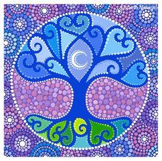 Tree of Life Mandala ~ by Elspeth McLean, pointalism art Mandala Art, Mandala Painting, Zentangle, Elspeth Mclean, Positive Energie, Dot Art Painting, Learn Painting, Aboriginal Art, Tree Art