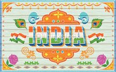 Illustration of welcome background in indian truck paint style. Welcome Background, Background Ideas, Truck Lettering, Republic Day India, India Map, India Travel, Truck Paint, Indian Patterns, Souvenir