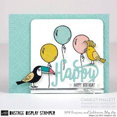Bird Banter Birthday card- Charlet Mallett - Stampin' Up! Occasions 2018
