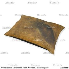 Shop Wood Rustic Distressed Faux Wooden Brown Pet Bed created by camcguire. Wood Dog Bed, Rustic Wood Background, Customizable Gifts, Pet Beds, Wood Design, Barn Wood, Dog Cat, Outdoor Blanket, Pets