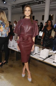 Allison Williams in Peter Som at the Peter Som Spring 2013 fashion show