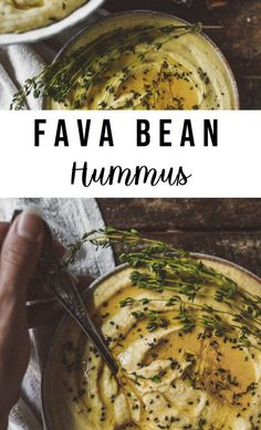 For anyone who is trying to eat more plant based, hummus is such a versatile vegan spread. This recipe uses Fava Beans as the base of this delicous dip. Healthy Vegan Snacks, Vegetarian Recipes, Cooking Recipes, Vegan Bean Recipes, Cooking Pasta, Vegetable Recipes, Dressings, Dips, Vegan Hummus
