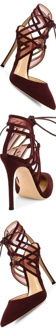 Gianvito Rossi Adria Suede D'Orsay Point-Toe Pumps