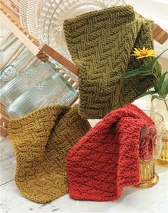 We Like Knitting: Knit Dishcloths - Free Pattern