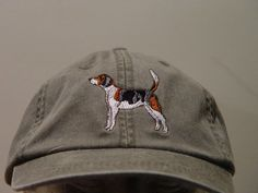 Embroidered Treeing Walker Coonhound Dog Hat by Price Embroidery and Apparel Treeing Walker Coonhound, How To Wash Hats, Hunting Gifts, Embroidery On Clothes, Black Spider, Embroidered Hats, Cotton Twill Fabric, Hound Dog, Window Shopping