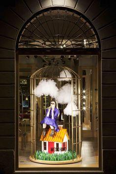 """Moschino boutique in Milan, Via Sant'Andrea 12 – November 2012 window display – Theme: """"Little world - Piccolo Mondo"""