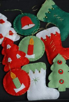 47 Best Ideas for crochet kids decor christmas trees Felt Christmas Stockings, Felt Christmas Decorations, Crochet Christmas Ornaments, Christmas Sewing, Noel Christmas, Felt Ornaments, Holiday Ornaments, Felt Crafts, Holiday Crafts