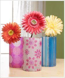 Decoupage - Decoupage Glass Vase