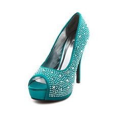 Jeweled Satin Peep-Toe Pump at Charlotte Russe