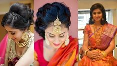 Hair style with saree for wedding party Saree Hairstyles, Classy Hairstyles, Modern Hairstyles, Creative Hairstyles, Cute Hairstyles, New Hair, Your Hair, Oval Face Shapes, Indian Wedding Hairstyles
