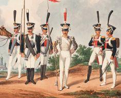 Costume du Regiment de Grenadiers de Moscou Drum Major
