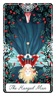 12 - The Hanged Man : Fairytale Tarot by Yoshi Yoshitani