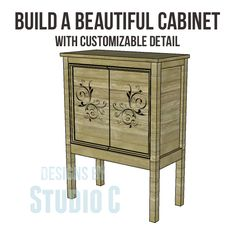 Plans to build a cabinet that is super-simple - add a stunning finish and WOW!!