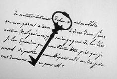 Shabby Schablone Schlüssel Schrift Brief Stencil Farbe Wand Schrank Vintage