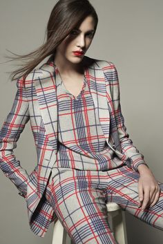 The new Tartan Capsule collection for Spring available in Giorgio Armani boutiques worldwide.