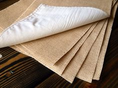 Simple Chic Burlap Placemats, Set of 6, Your Choice in Light or Natural Burlap, Weddings Rustic Cottage Chic Shabby Chic. $35! Great quality!! www.amynelly.etsy.com