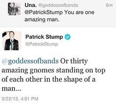Patrick Stump, the most modest man (or 30 gnomes) in the world