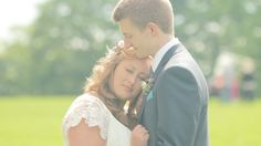 Romantic outdoor wedding at Linlithgow Burgh Halls. White Balloon Films / Wedding Videographer Scotland / Bride & Groom