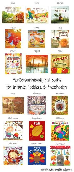 It's no secret that I love seasonal and themed books around here! Here is a list of the best Montessori friendly fall themed books my boys have been...   Books about Fall   Books About Seasons   Books About Changing Leaves   Educational children's books   Book's for kids   Fall Books Reading List Montessori Books, Preschool Books, Montessori Toddler, Toddler Preschool, Toddler Activities, Montessori Bedroom, Montessori Kindergarten, Kindergarten Books, Montessori Classroom