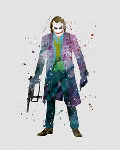 The Joker Watercolor Art