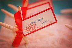 Starfish escort cards!