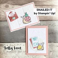 Stamp Review Crew | Snailed It – kelly kent Snail Cards, Hello Monday, Crossed Fingers, Happy Mail, My Stamp, One Design, Postage Stamps, Are You Happy, 3 D