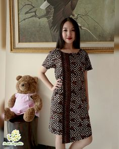Batik dress modern , batik republic , Order by WA : or Line : batikrepublic Model Dress Batik, Batik Dress, Modest Dresses, Pretty Dresses, Boho Outfits, Trendy Outfits, Dress Batik Kombinasi, Blouse Batik, Batik Fashion