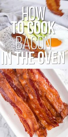 Cooking bacon in the oven is the best way to make a large batch of crispy, perfectly cooked bacon. It also prevents the messy grease splatter that comes from frying bacon on a stove top. With these easy tips, you can learn how to bake bacon in the oven! Bacon Recipes, Oven Recipes, Kitchen Recipes, Kitchen Tips, Best Breakfast Recipes, Breakfast Dishes, Brunch Recipes, Dinner Recipes, Tasty Videos