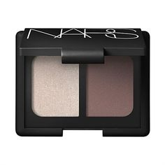 "NARS ""Bellissima"" eye shadow duo, a shimmering beige paired with a matte gray-brown. Perfect neutral colors when you don't want to think about your eye makeup too much, but not boring."