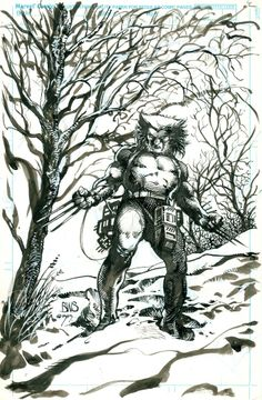Barry Windsor Smith weapon-x 77 alt cover 1989 Comic Book Artists, Comic Artist, Comic Books Art, Fantasy Paintings, Fantasy Art, Ink Illustrations, Illustration Art, X Men, Wolverine Art